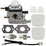 Hippotech Carburetor for ZAMA C1U-K17 C1U-K27 C1U-K27A C1U-K27B C1U-K54 C1U-K46 C1U-K82 2-Cycle Mantis 7222...