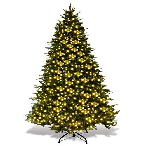 GOJOOASIS Artificial Christmas Tree with Lights & Cones 7FT Xmas Pine Tree Green