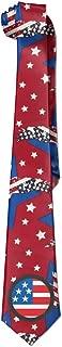 Men's Circular American Flag Custom Necktie Skinny Ties / New Novelty Necktie