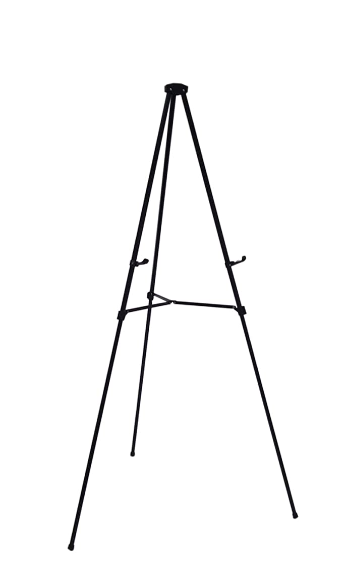 Lightweight Aluminum Telescoping Display Easel, 70 Inches, Black