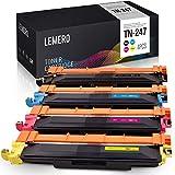 4 LEMERO Compatible TN-247 TN-243 TN247 TN243 [con Chip] Toner para Brother HL-L3210CW HL-L3230CDW HL-L3270CDW MFC-L3710CW MFC-L3730CDN MFC-L3750CDW MFC-L3770CDW DCP-L3510CDW DCP-L3550CDW DCP-L3517CDW
