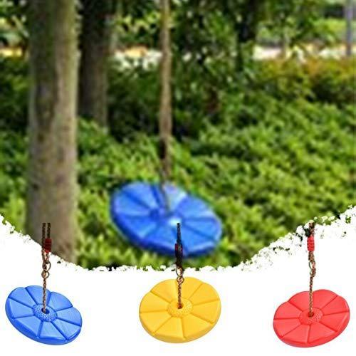 TOOGOO Baum Schaukel Kletter Seil mit Platt Formen Scheiben Schaukel Sitz Kinder Scheiben Schaukel Sitz Hinter Hof Spiel Platz im Freien Blau