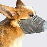 Lanafall Máscaras para Perros Anti N95 Coronavirus Niebla del Perrito de PM2.5 Protector de Boca Máscara de Acero de Cubierta Interior del Anillo de protección Bozal para el Perro,L