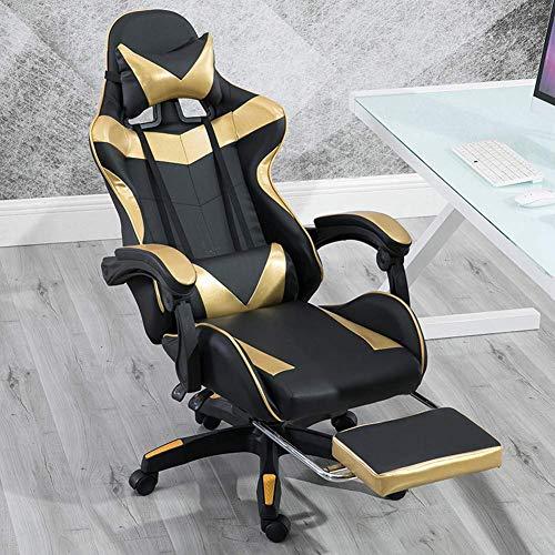 Silla Gaming 155 & deg;Sillón reclinable 360 & deg;Sillas ergonómicas para juegos de rotación, reposabrazos 3D, escritorio de oficina en casa, silla para computadora, con cojín lumbar extraíble