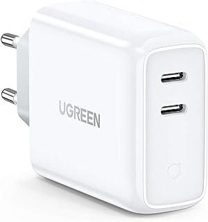 UGREEN USB Laddare C 36W 2 Portar PD 3.0 USB Snabbladdare Kompatibel med Macbook iPad Pro Samsung S21 S20 S10 iPhone Se 20...