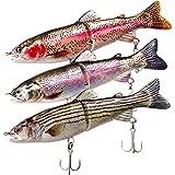 ods lure Juego de cebos de pesca con anzuelo para trucha, lucha marina y salmón (15,2 cm)