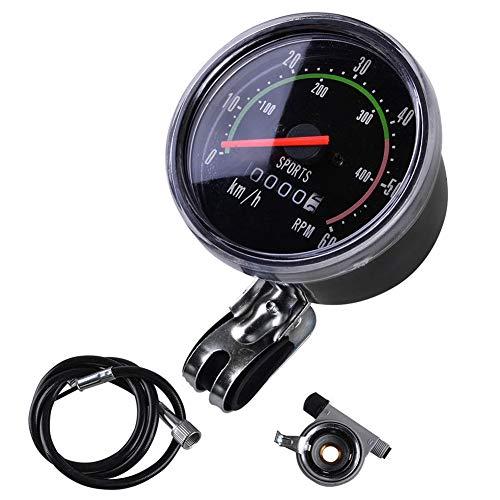 Wpond Mechanischer Tachometer für Fahrrad, wasserdicht, Fahrradtacho, Kilometerzähler, runde Messgeräte, Stoppuhr, Reitausrüstung, mechanische Messgeräte (Tachometer)
