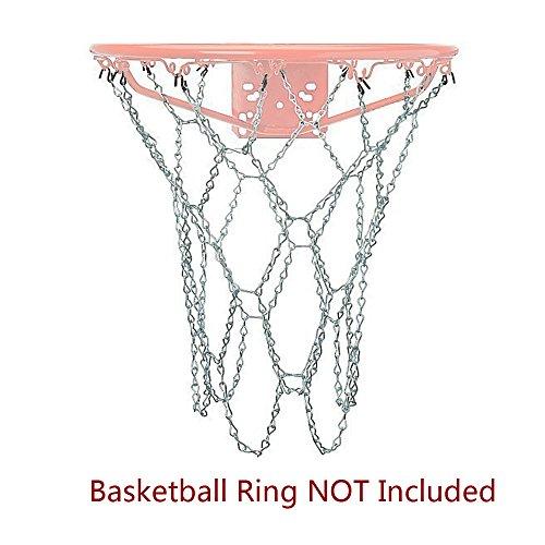 Paxcoo Red de baloncesto de acero (12 aretes): Amazon.es: Deportes ...
