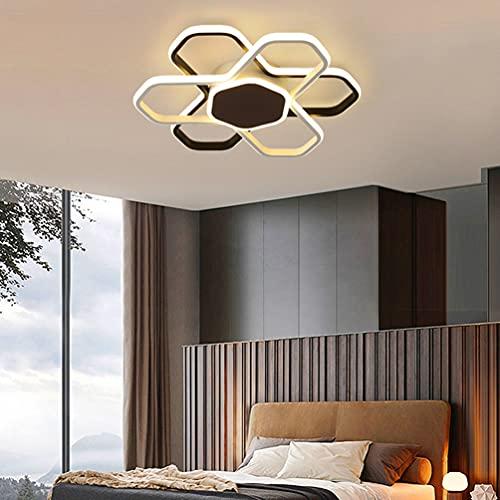 Lámpara LED de techo moderna para despacho, salón, cuarto de baño, diseño regulable, especial con forma de lámpara decorativa, lámpara de araña de metal acrílico, para dormitorio,