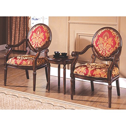 """Best Master Furniture Maddison Traditional Living Room Accent Chair & Table Set, 24"""" x 25"""" x 38"""""""