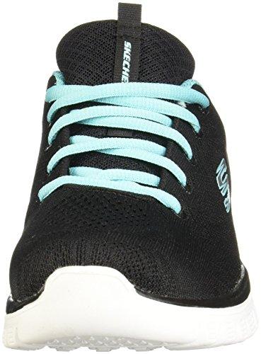Skechers Graceful-Get Connected, Zapatillas Mujer, Negro (Bktq Black/Turquoise Trim), 39 EU