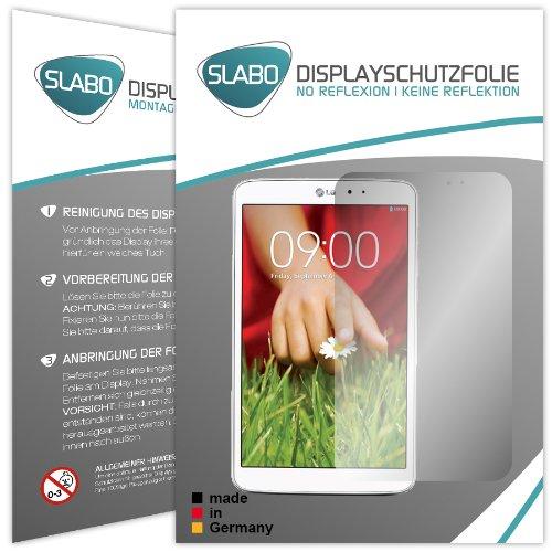 Slabo 2 x Bildschirmschutzfolie LG G Pad 8.3 Bildschirmschutz Schutzfolie Folie No Reflexion|Keine Reflektion MATT-Entspiegelnd Made IN Germany