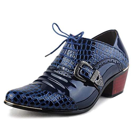 Männer Formale Schuhe High Heels Business Kleid Schuhe Männer Oxfords Spitz Oxford Schuh Für Männer Hochzeit Lederschuhe