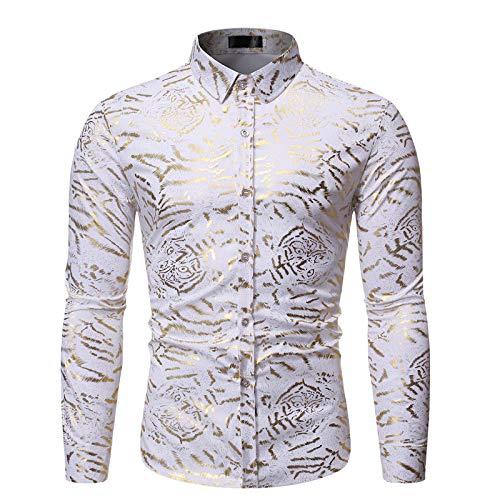 Camisas de Manga Larga con gráficos Impresos en 3D con Estilo para Hombres Camisa con Botones y Estampado de Moda Informal Camisa con Botones de Estilo de Tendencia de la Calle Camisa de Fondo XL