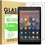 GOZOPO [2.5D Edge] Protector de pantalla para Amazon Fire HD 10 Tablet 10.1' (7ª generación/9ª generación, versión 2017/2019) /Fire HD 10 Kids Edition, película de vidrio templado