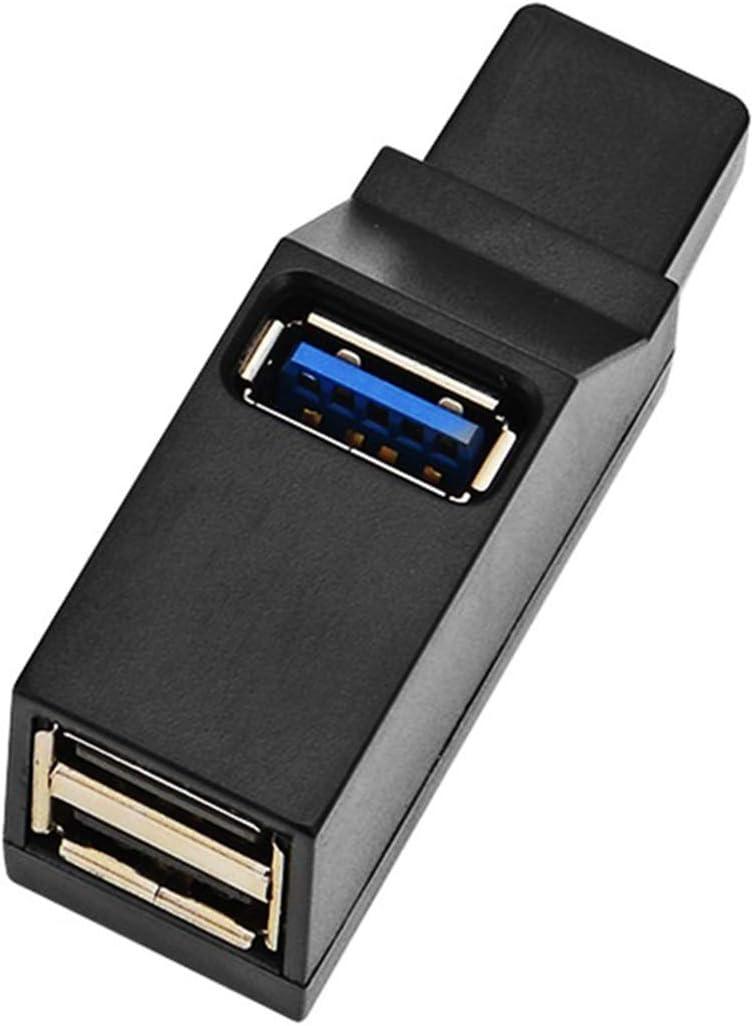 EXKOKORO 3-Port USB 3.0/2.0 Data Hub, 2 x USB2.0/1 x USB 3.0 Mini Portable Fast High Speed USB Splitter Hub Transfer, Compatible with PC Notebook Laptop Computer Mac Linux Windows