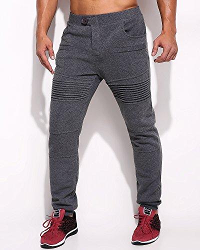MODCHOK Men's Camo Jogger Cargo Pants Chino Running Polyster Jogging Trousers (S, Dark Gray 1)