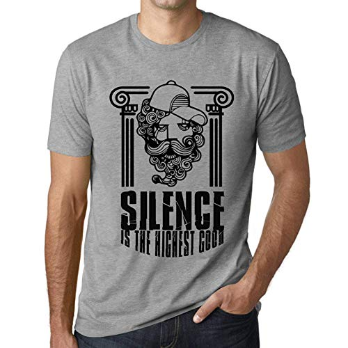 One in the City Hombre Camiseta Vintage T-Shirt Gráfico Funky Philosopher Silence Gris Moteado