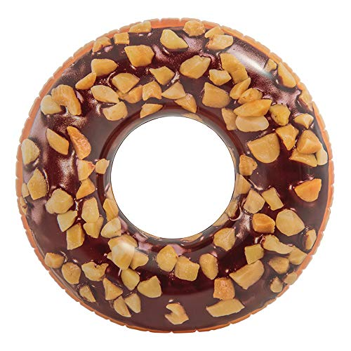 Intex 56262 - Rueda hinchable donut chocolate, 99 cm diámetro ⭐