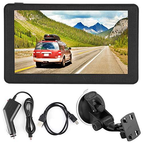 Navigatore Portatile per Auto da 7 Pollici 256 MB Sistema di Navigazione GPS con Schermo Capacitivo HD da 8 GB, Sistema di Navigazione GPS per Auto, Indicazioni Vocali Passo-passo, Accesso Diretto