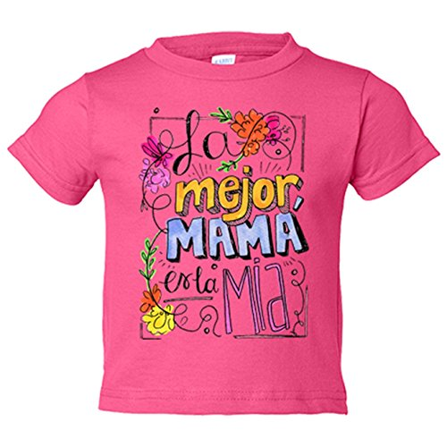 Camiseta niño Día de la Madre la mejor mamá es la mía - Rosa, 3-4 años