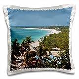 Beaches - Trinidad, Cuba, beach from the Hotel Ancon - Bill Bachmann - 16x16 inch Pillow Case