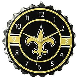New Orleans Saints Bottlecap Clock