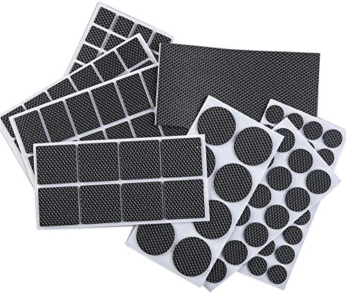 FOOMEXT 129 Pieces Furniture Pads-Heavy Duty Adhesive Rubber Furniture Pads -Best Chair Leg Covers Assorted Sizes Protect Your Hardwood & Laminate Flooring