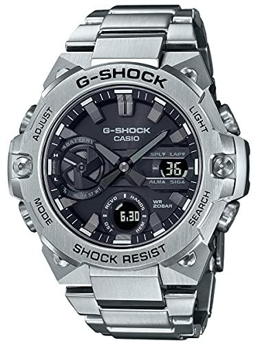 G-Shock Reloj delgado G-Steel GSTB400 para hombre, acero inoxidable