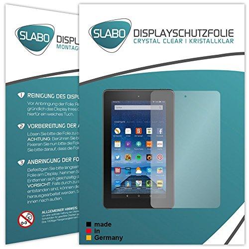 Slabo 2 x Bildschirmschutzfolie für Amazon Fire 17,7 cm 7