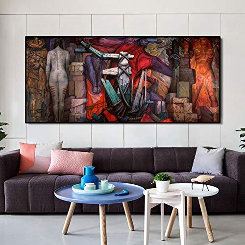 MLSWW Cuadro en Lienzo Pintura Decorativa Famosos Carteles e Impresiones de Cuadros murales disfrazados de Pintura de decoración de Sala de Estar Mural