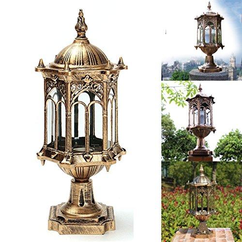 Bazaar buitenkant antieke messing palen omheining lantaarn licht landschap tuinlamp E27 220V