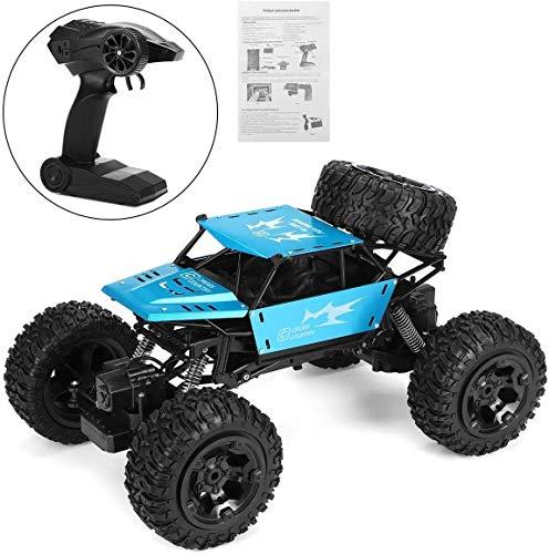 wangch 2.4g Radio Control Remoto Niños Control Remoto de Alta Velocidad Coche 1: 8 Control Remoto Carro de Coche Juguete 4WD Off-Road Electric Car Doy Toy Regalo (Color : Azul)