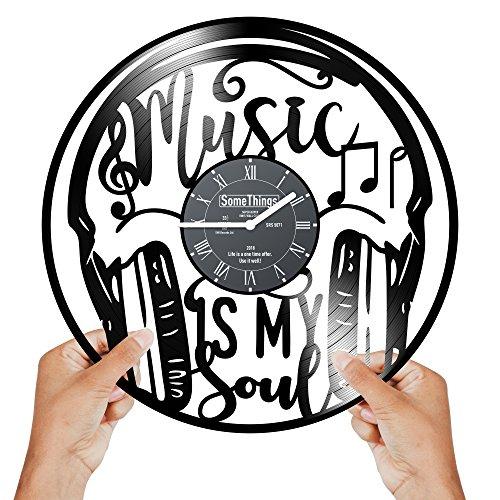 Vintage Vinyl Record Clock