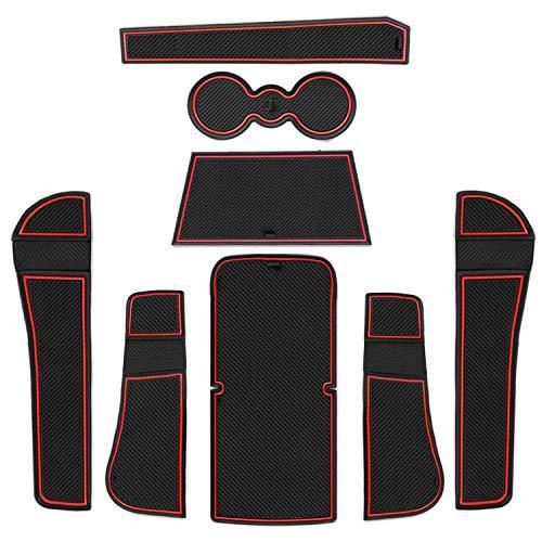 CDEFG para Skoda Karoq 2018 2019 Coche Accesorios Antideslizante Copa Mats Anti Slip Puerta Ranura de Acceso Kit de la Estera del cojín de la Ranura decoración de Interiores