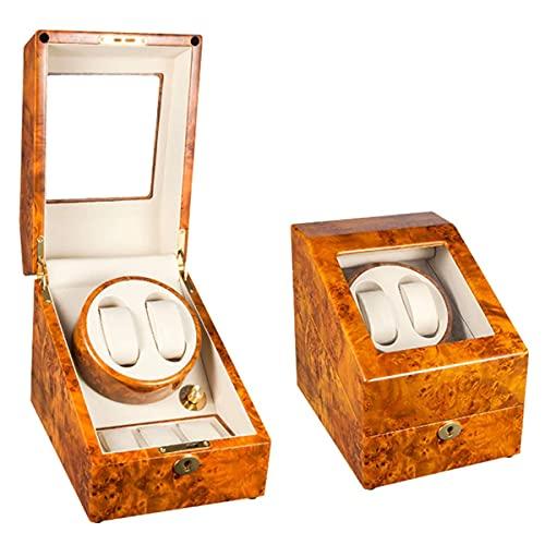 SGSG Caja enrolladora de Reloj automática 2 + 3 para 5 Relojes, Motor Deslizante y 5 Modos de rotación, Caja de Almacenamiento de Reloj Mini, Motor silencioso, Adaptador de CA y Funciona con Bate