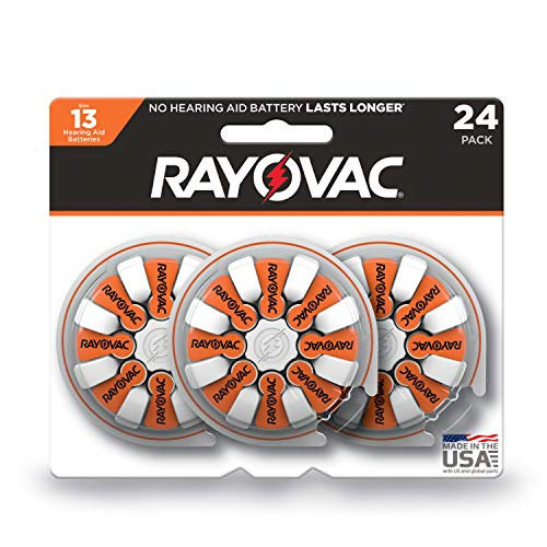 Rayovac Hearing Aid Batteries Size 13 for Advanced Hearing Aid Devices (24 Count) (52894)