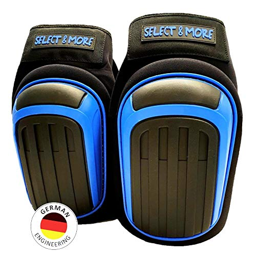 Genouillères haut de gamme avec anneau de gel professionnel et mousse à mémoire de forme I revêtement antidérapant à l'intérieur et confortable à l'arrière du genou I Brevet allemand I DIN EN 14404