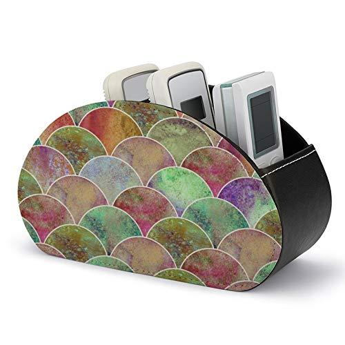 Lucky Duck - Caja de almacenamiento de cuero para guardar TV, DVD, Blu-ray mando a distancia, Negro-estilo6 (Blanco) - 5