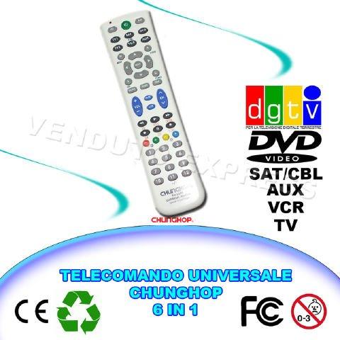 663009mando a distancia universal 6en 1CHUNGHOP rm-l688TV VCR DVD AUX dgtv Sat