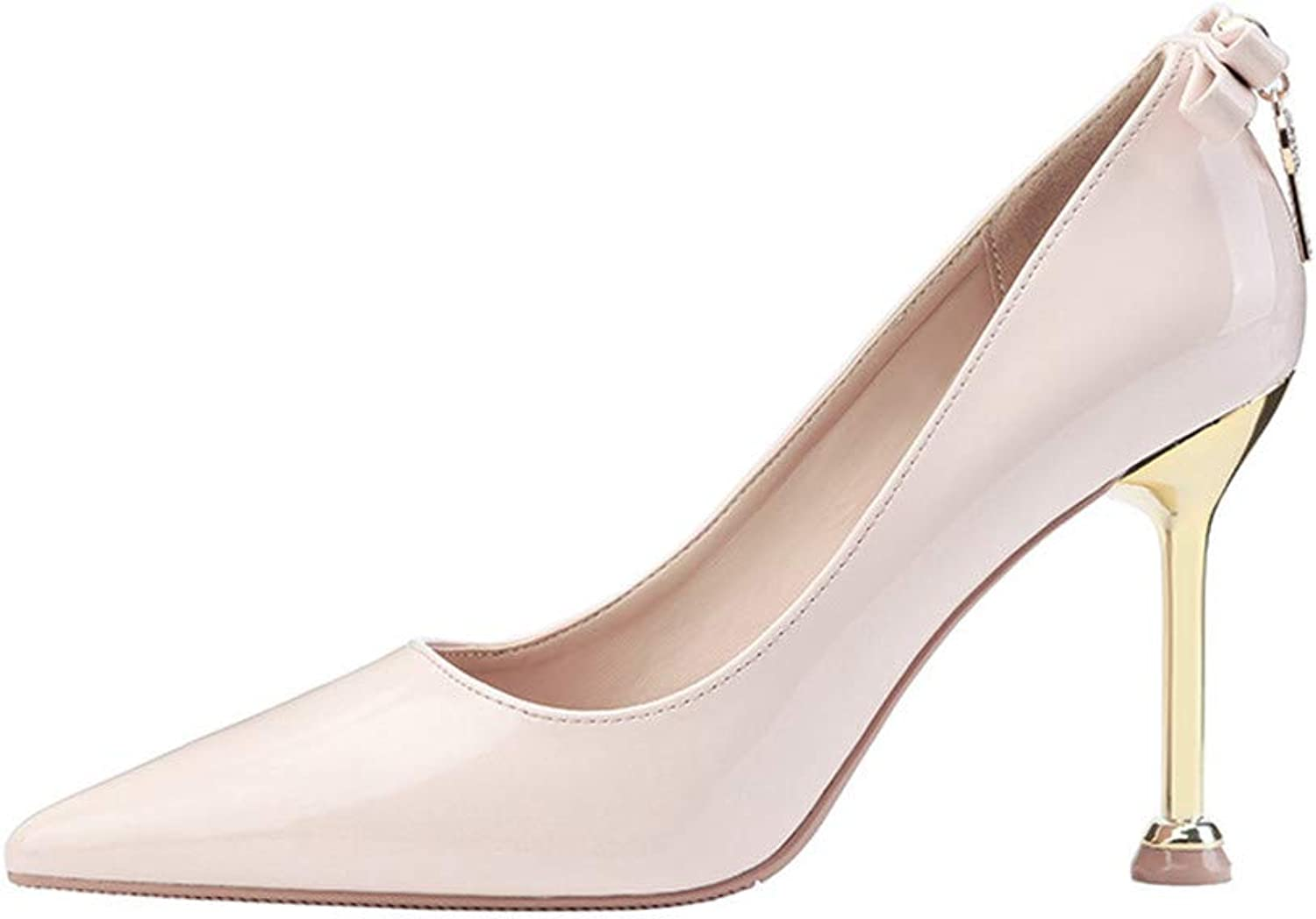 Women's Classic Evening Party Dance Wedding Closed Toe Kitten Heel Pump Casual Comfort,White,39