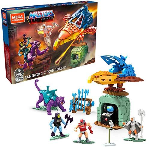 Mega Construx GPH24 Probuilder Masters of The Universe Classic Point Dread, Bauset inkl. 3 Mikro-Actionfiguren mit Bewegungspunkten, Spielzeug ab 8 Jahren