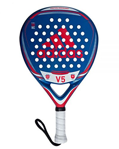 adidas V5 Pala de pádel de Tenis, Hombre, Azul, 0.36