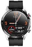 jpantech Smartwatch Full Touch Screen Smart Watch IP68 Waterproof Smart Watch | Bluetooth Call | ECG Mesure de la Pression artérielle Fréquence Cardiaque iOS/Android (Argent)
