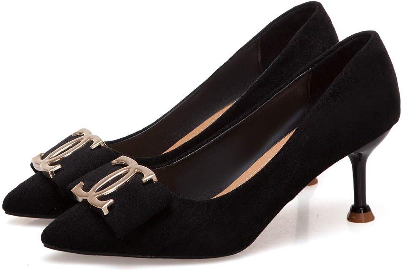 HOESCZS High Heels Hochhackige Schuhe Weiblichen Frühling Neue Spitzen Mode Fan Mode Stiletto Frauen Schuhe Wilde Flachen Mund Einzelne Schuhe