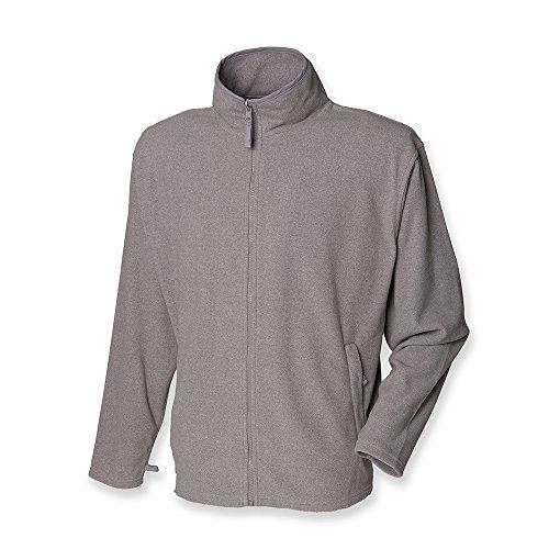 Henbury Men's Micro Fleece Jacket Heather XL