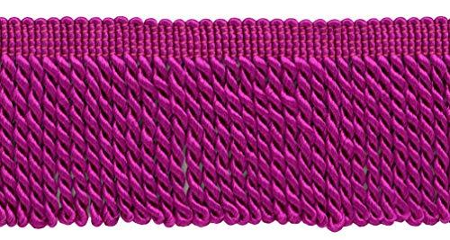 DecoPro 64 mm Violet Rose Lingot Frange Trim|Style # Ef25|Color : 161|Sold par la Cour (0,9 m = 91 cm/0,9 m/91,4 cm)