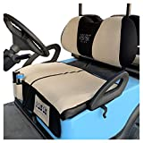 10L0L Golf Cart Seat Cover Seat Blanket fit Club Car DS Precedent & Yamaha Models,Washable Polyester Mesh Bench Seat Blanket with Storage Bags,Multi Function