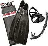 Cressi PRO Star, Set Immersione Unisex – Adulto, Nero, 43/44