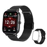 Voigoo Smartwatch (2021 Nuovo,Chiamata Bluetooth) Orologio Fitness Donna Uomo Smart Watch Contapassi Cardiofrequenzimetro da Polso ECG Orologio Sportivo Activity Tracker Cronometro per iOS Android